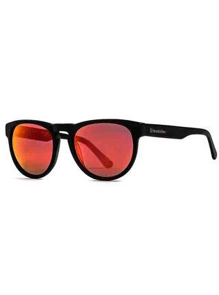 Horsefeathers ZIGGY matt black/mirror red sluneční brýle pilotky - černá