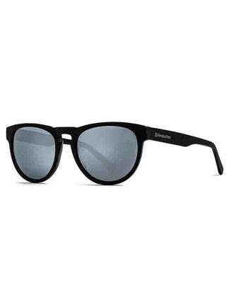 Horsefeathers ZIGGY brushed black/mirror white sluneční brýle pilotky - černá