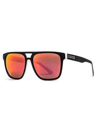 Horsefeathers TRIGGER matt black/mirror red sluneční brýle pilotky - černá