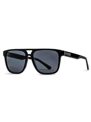 Horsefeathers TRIGGER gloss black/gray sluneční brýle pilotky - černá