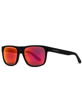 Horsefeathers KEATON matt black/mirror red sluneční brýle pilotky - černá