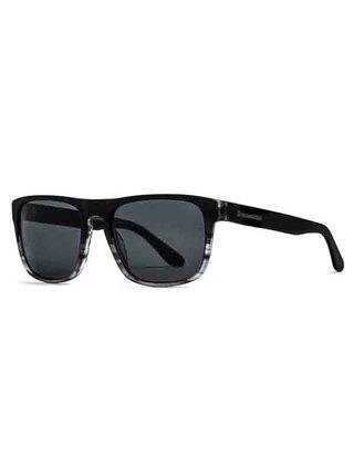 Horsefeathers KEATON matt black/turtle gray sluneční brýle pilotky - černá