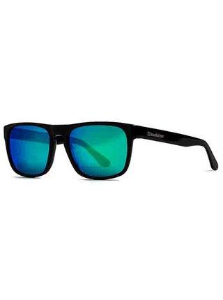 Horsefeathers KEATON gloss black/mirror green sluneční brýle pilotky - černá