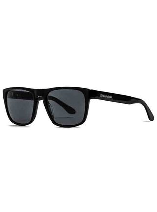 Horsefeathers KEATON gloss black/gray sluneční brýle pilotky - černá