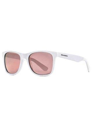 Horsefeathers FOSTER gloss white/mirror rose sluneční brýle pilotky