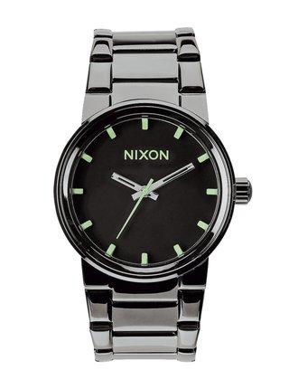 Nixon CANNON POLISHEDGUNMETALLUM analogové sportovní hodinky - černá