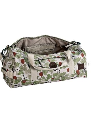 Nixon PIPES DUFFLE KHAKICAMO cestovní taška - zelená