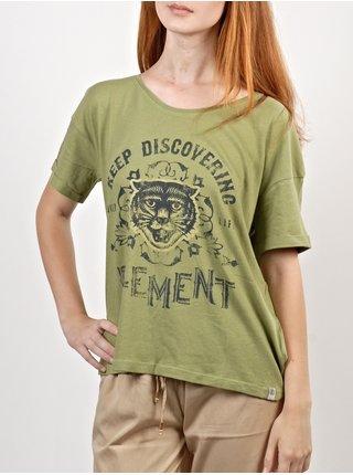 Element TIGER                DEEP MOSS dámské triko s krátkým rukávem - zelená