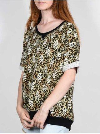 Element ROXANE black dámské triko s krátkým rukávem - hnědá