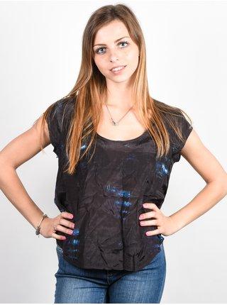 RVCA NAYLIN black dámské triko s krátkým rukávem - černá