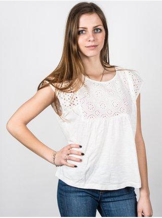 Roxy BOHO DANCE MARSHMELLOW dámské triko s krátkým rukávem - bílá