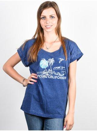 Rip Curl ENCANTO  blue depths dámské triko s krátkým rukávem - modrá