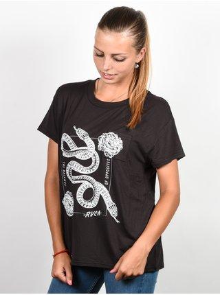RVCA LOVE SURVIVAL PIRATE BLACK dámské triko s krátkým rukávem - černá