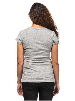 Horsefeathers ELMA ASH dámské triko s krátkým rukávem - šedá