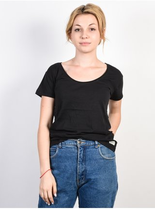 Femi Stories HUMU black dámské triko s krátkým rukávem - černá