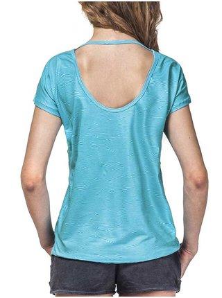Horsefeathers EASE blue dámské triko s krátkým rukávem - modrá