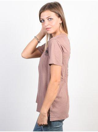 Burton KEELER V NECK ANTLER dámské triko s krátkým rukávem - starorůžová