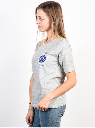 Element OVAL HEATHER GREY dámské triko s krátkým rukávem - šedá