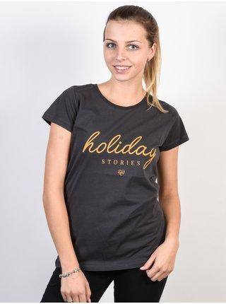 Femi Stories KLARK WBLK dámské triko s krátkým rukávem - černá