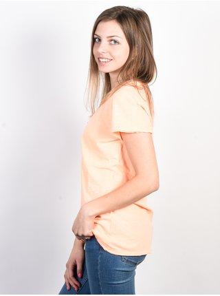 Rip Curl RAINBOW WETSUIT ROSA RANCIO dámské triko s krátkým rukávem - meruňková