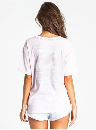 Billabong BEACH COMBER PINK SAND dámské triko s krátkým rukávem - růžová