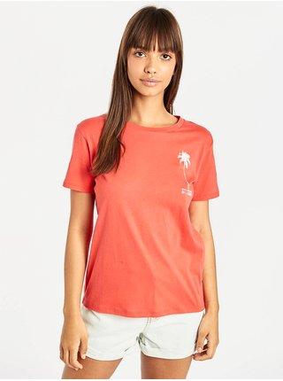 Billabong COSMO SUNSET RED dámské triko s krátkým rukávem - červená