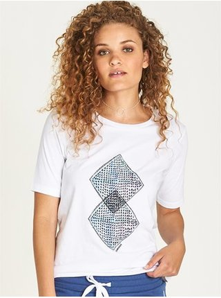 Element ABSTRACT white dámské triko s krátkým rukávem - bílá