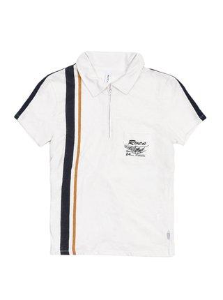 RVCA ZERO IN Vintage White dámské triko s krátkým rukávem - bílá