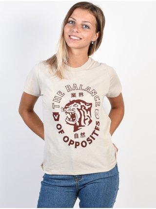 RVCA SIAM OATMEAL dámské triko s krátkým rukávem - béžová