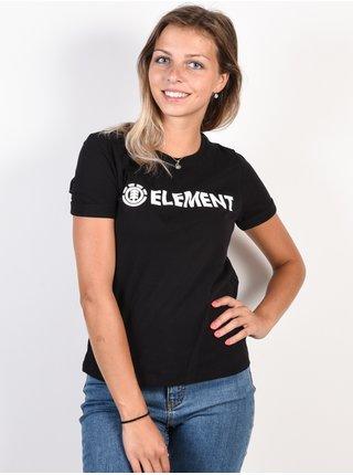Element ELEMENT LOGO black dámské triko s krátkým rukávem - černá