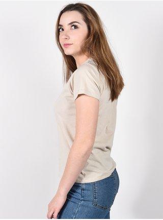 RVCA SLACKER OATMEAL dámské triko s krátkým rukávem - béžová