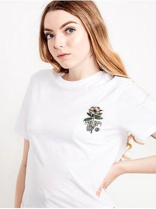 Element OPTIMIST CROP white dámské triko s krátkým rukávem - bílá