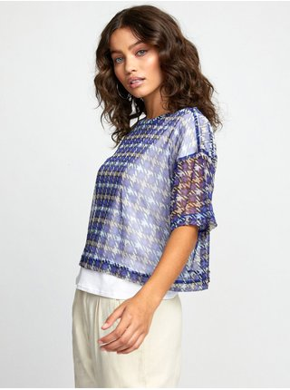 RVCA INNER MOON CRYSTAL LILAC dámské triko s krátkým rukávem - barevné