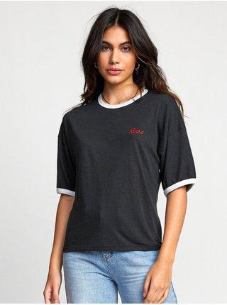 RVCA SCRYPT black dámské triko s krátkým rukávem - černá