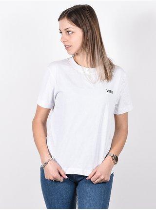 Vans JUNIOR V BOXY white dámské triko s krátkým rukávem - bílá
