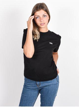 Vans JUNIOR V BOXY black dámské triko s krátkým rukávem - černá