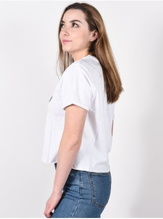 Vans GREENHOUSE white dámské triko s krátkým rukávem - bílá