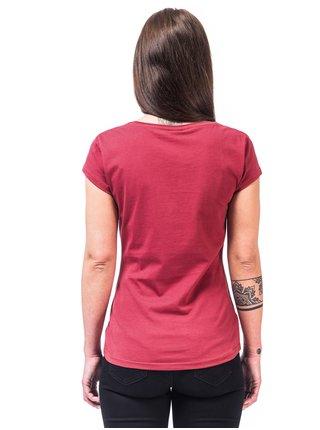Horsefeathers ELEONOR garnet rose dámské triko s krátkým rukávem - červená