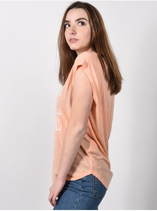 Rip Curl MY WAY PEACH NECTAR dámské triko s krátkým rukávem -meruňková