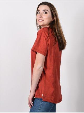 Rip Curl THE KEEP SEARCHING SUN RUST dámské triko s krátkým rukávem - červená