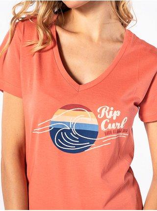 Rip Curl THE WAVE KISS KISS dámské triko s krátkým rukávem - červená