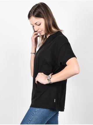 RVCA AU REVOIR washed black dámské triko s krátkým rukávem - černá