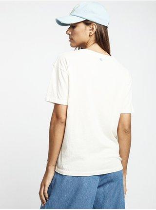 Billabong COAST LINE SALT CRYSTAL dámské triko s krátkým rukávem - bílá