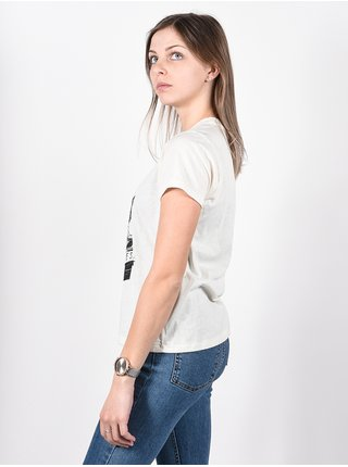 RVCA BENJAMIN ANTIQUE WHITE dámské triko s krátkým rukávem - bílá