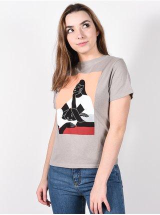 RVCA OLK METAL dámské triko s krátkým rukávem - šedá