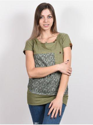 Alife and Kickin CORAAK DUST dámské triko s krátkým rukávem - zelená