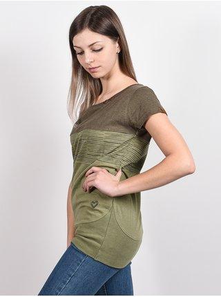 Alife and Kickin CLEAAK DUST dámské triko s krátkým rukávem - zelená