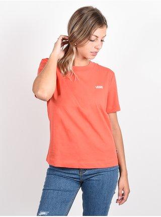 Vans JUNIOR V BOXY Paprika dámské triko s krátkým rukávem - červená