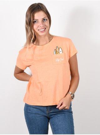 Rip Curl SURFBOARD POCKET LIGHT ORANGE dámské triko s krátkým rukávem - oranžová