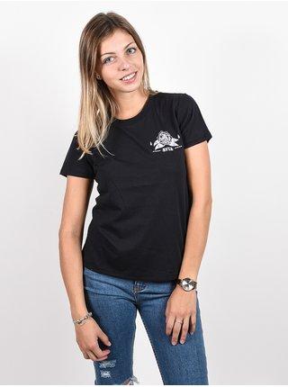 RVCA JESSE FADED BLACK dámské triko s krátkým rukávem - černá